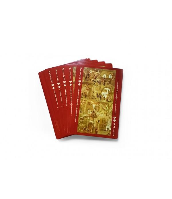 愛麗絲夢遊仙境150週年原文復刻版.紙牌之書套組