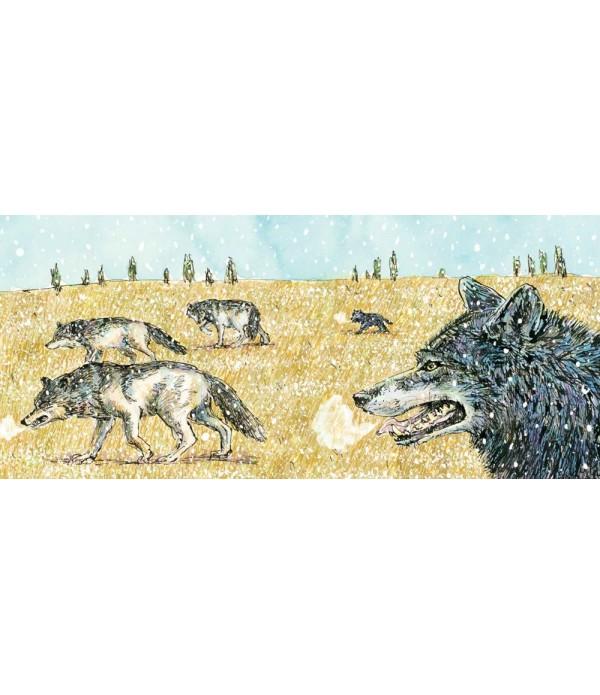 雪中遇見狼